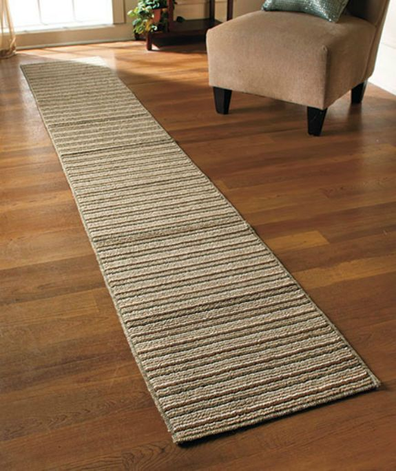 Extra Long Non Slip Runner Rug Striped Washable Durable 60 90 120