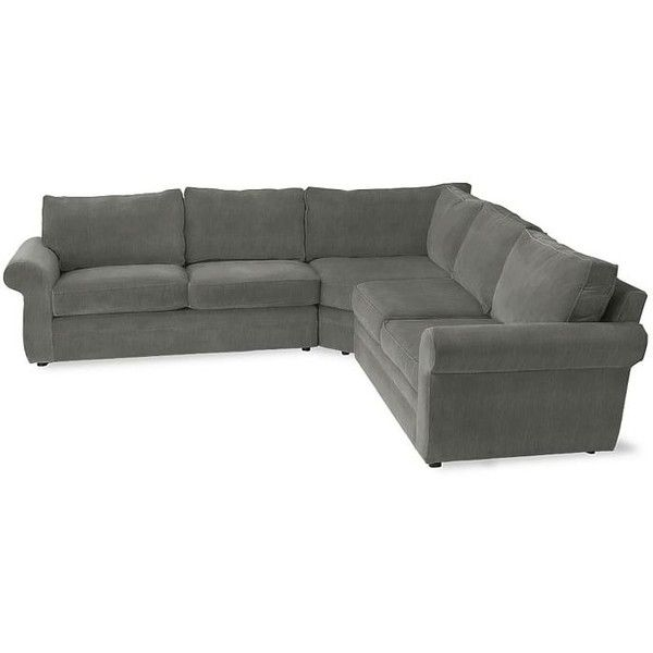 Pottery Barn Pearce Upholstered 3-Piece L-Shaped Sectional ...