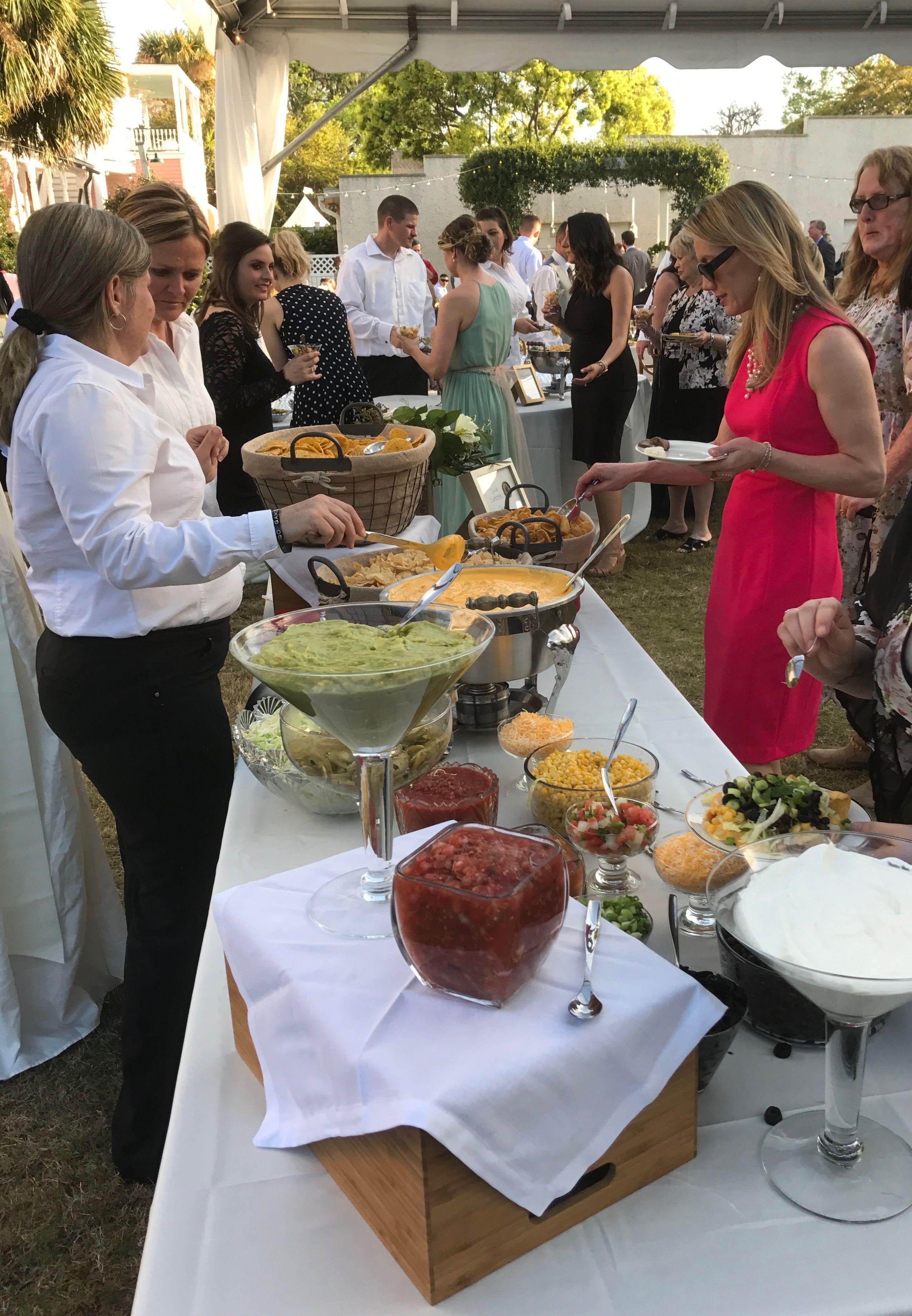 Nacho Bar Catering By Debbi Covington Beaufort Sc Bar Catering Nacho Bar Wedding Food Bars