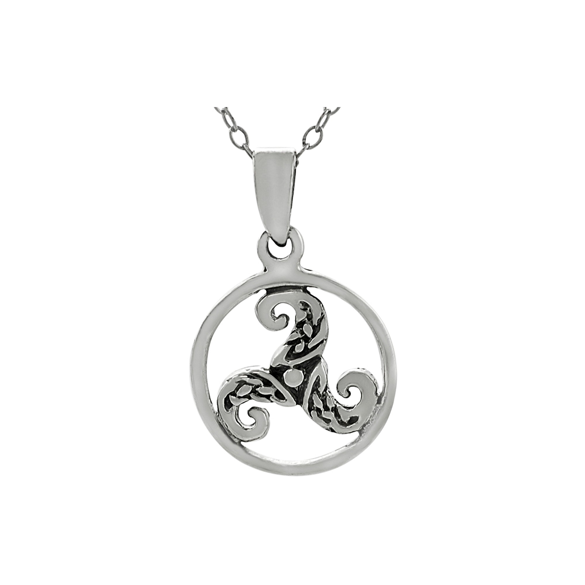 shamrocking thunder large chain sterling store celtic product triskele shop in silver pendant necklace