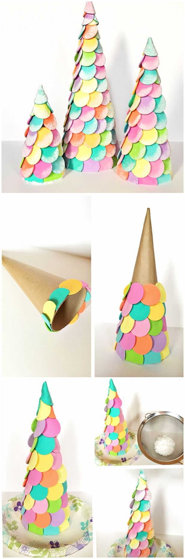 DIY CANDY CHRISTMAS CONE TREES | Pinterest | Candy cone, Christmas ...