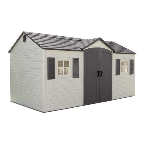 Lifetime Products Gable Storage Shed (Common: 15-ft x 8-ft; Actual Interior Dimensions: 14.5-ft x 7.5-ft) | Lowe's for Pros