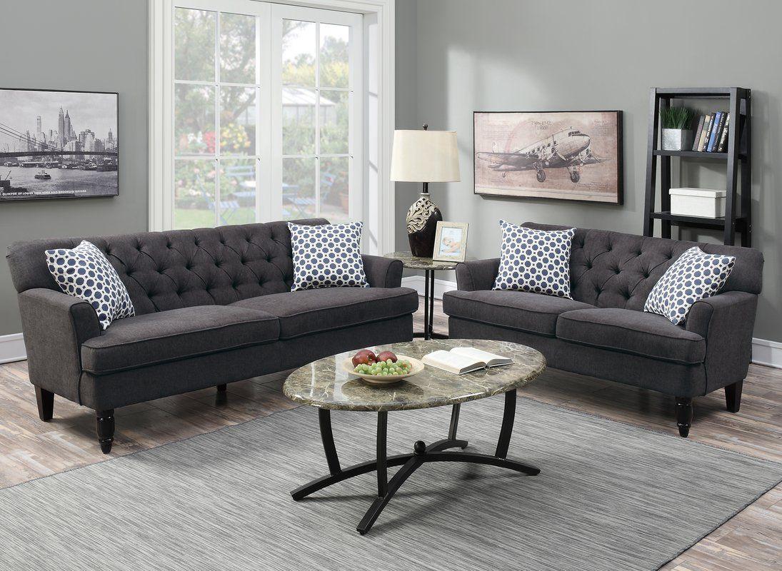Superieur Poundex Bobkona Fostord Sofa Set U0026 Reviews | Wayfair