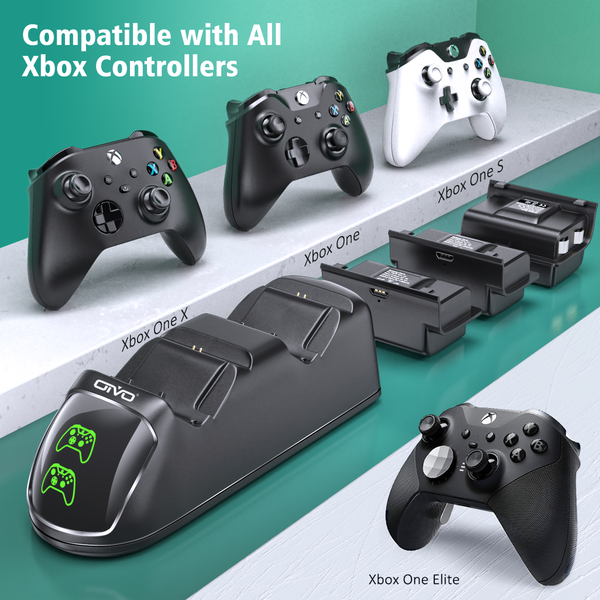 Charger For Xbox One S X Elite Controller With 3 Packs Batteries Xbox One Xbox One S Xbox One Controller