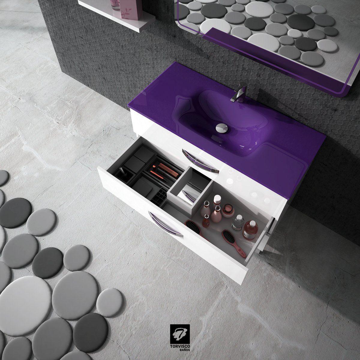Vista desde arriba del mueble de baño modelo GARONA de ...