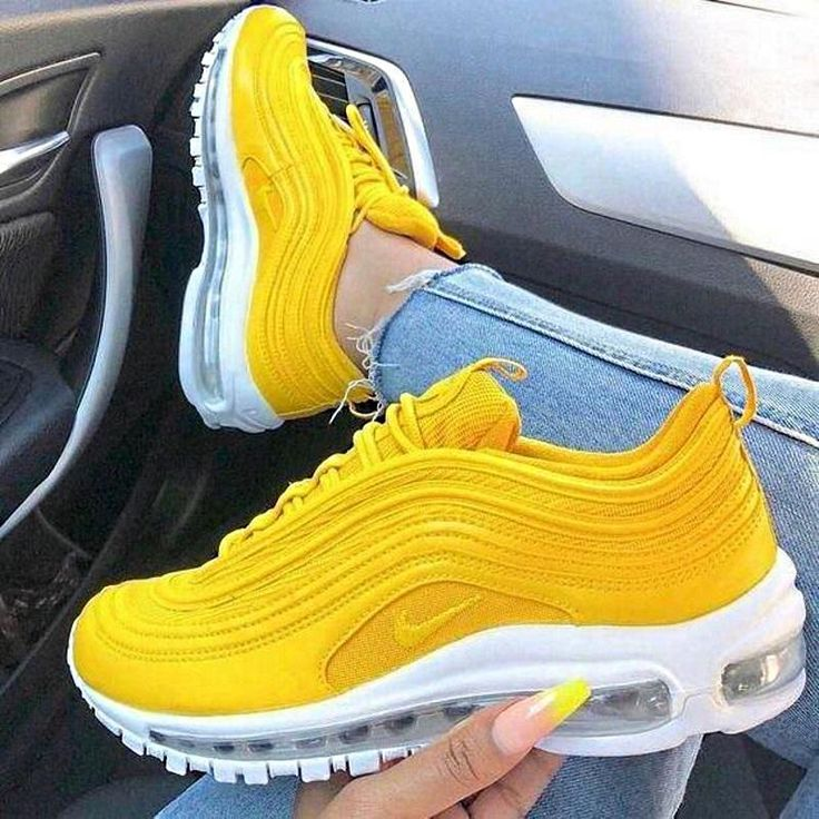 Nike Air Max 97 Yellow Red - s h o e s ✰ - #air #Max #Nike #Red #yellow #redshoes