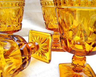 Amber Depression Glass $3