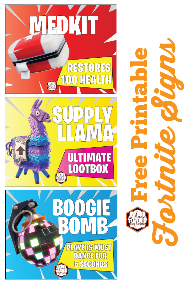 photo regarding Printable Birthday Signs called Totally free Printable Fortnite Bash Indications fortnite bday