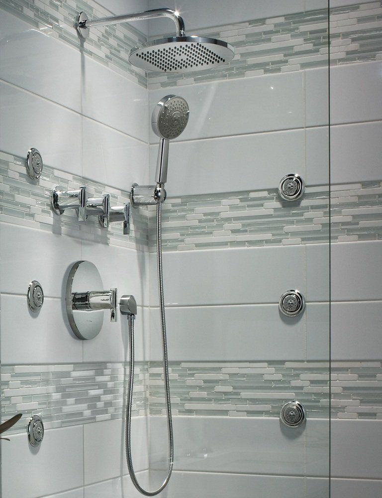 American Standard modern rain easy clean showerhead (And the tile ...