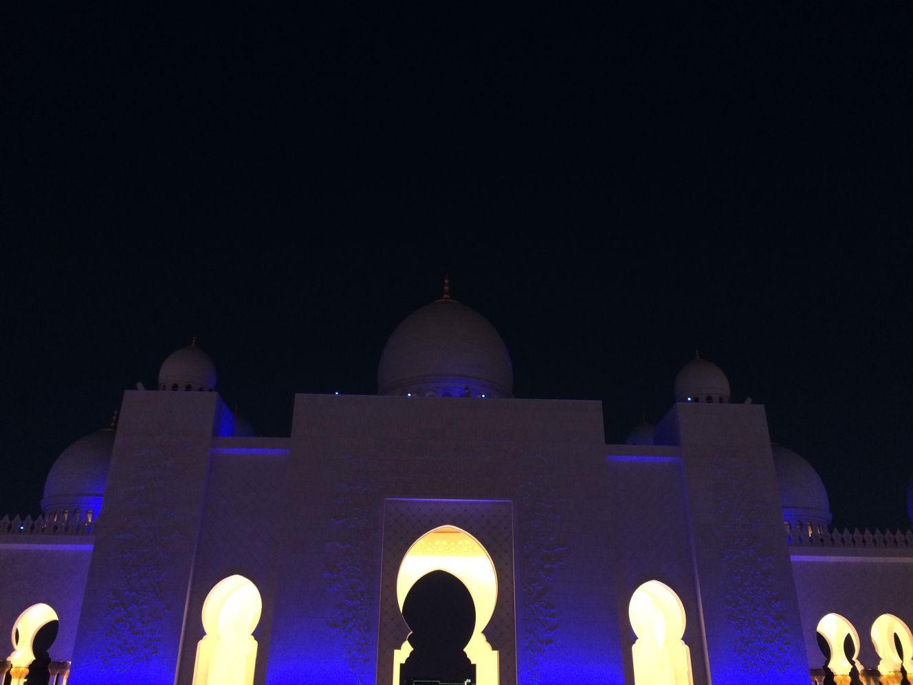 Night Time, Sheikh Zayed Grand Mosque, Abu Dhabi, UAE