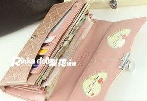 handy Classical PU Leather Button Clutch Purse Lady Long Handbag Women Wallet