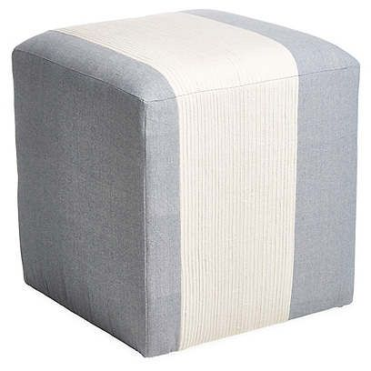 Best Azur Cube Ottoman Light Blue Cream Imagine Home Cube 400 x 300