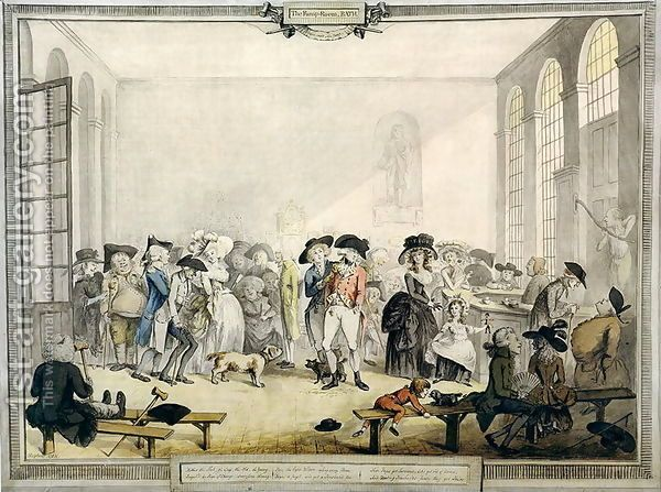 Taking The Waters At The Pump Room Bath 1784 With Images