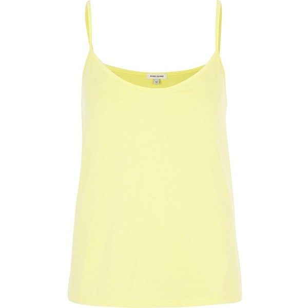 f939c9b3b7b River Island Light yellow cami top ($5.79) ❤ liked on Polyvore ...