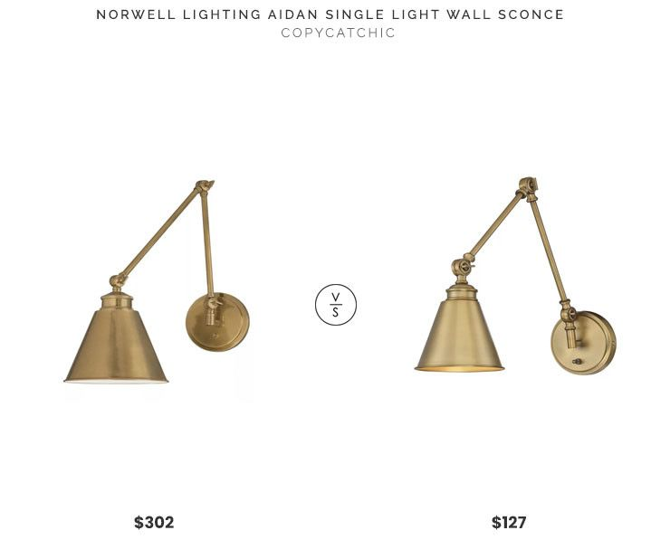 Daily find norwell lighting aidan single light wall sconce copycatchic