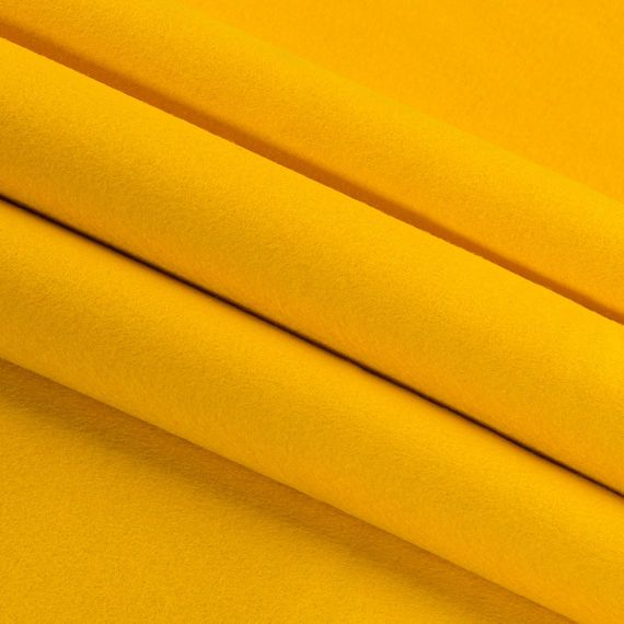 Clearance Dark Yellow Wool Craft Felt By The Yard 100 Wool 1 2mm Thick 63 Wide Limited Stock Dark Yellow Felt