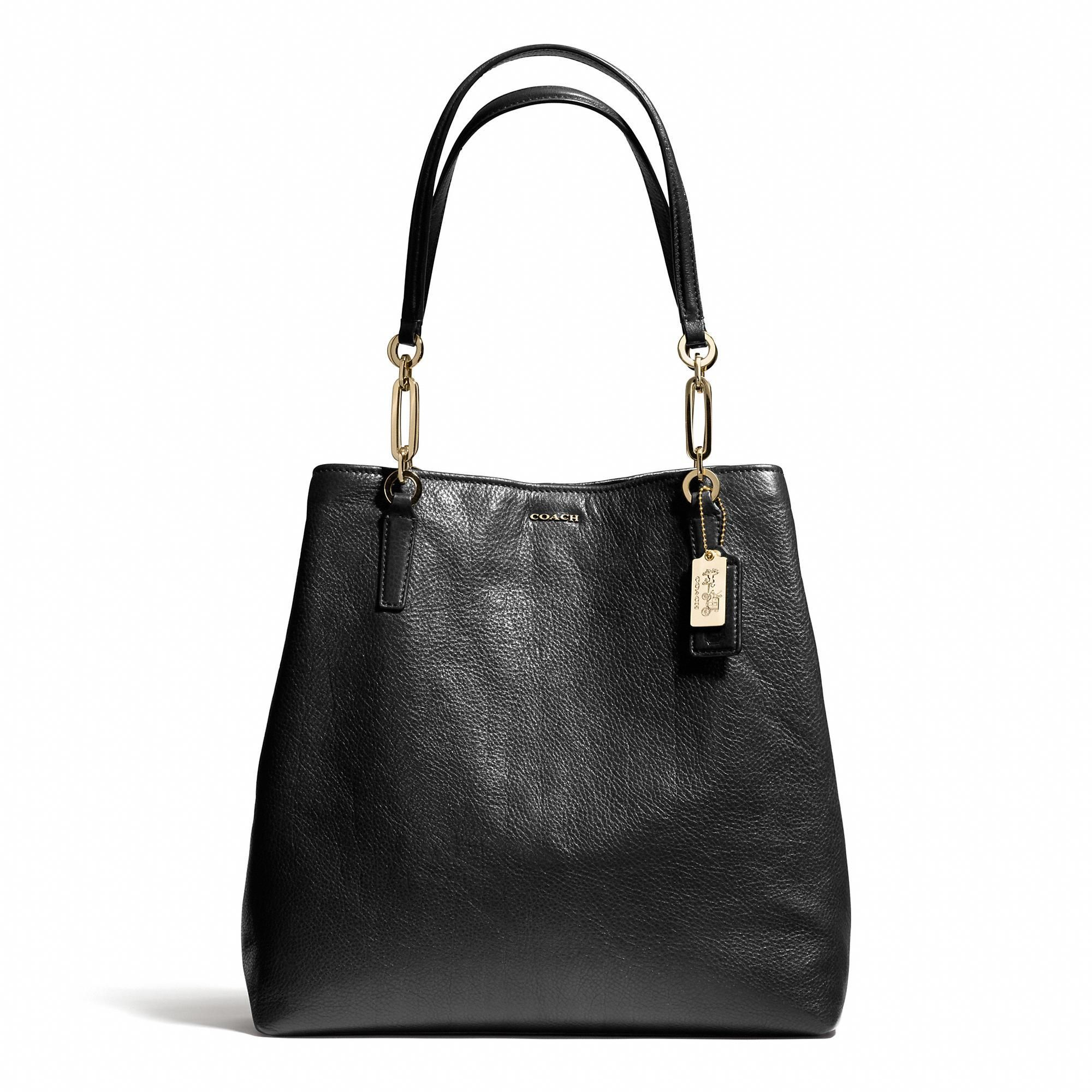 Give her style the coach madison northsouth tote in leather