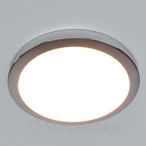 Glanzend chromen badkamer-plafondlamp Aras met LED 9950542 ...