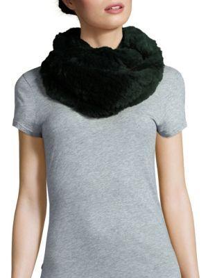 JOCELYN Rabbit Fur Infinity Scarf. #jocelyn #scarf