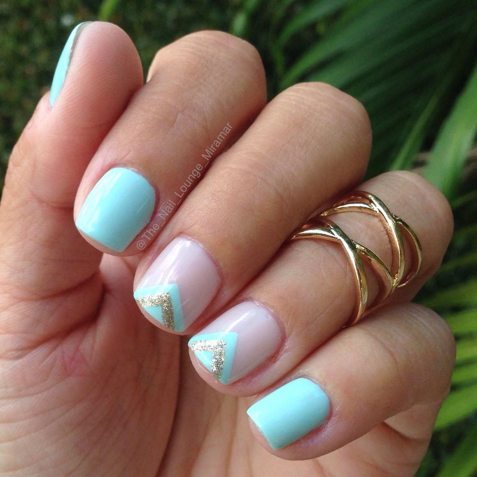 Simple mint nail art design nails pinterest mint nail art and