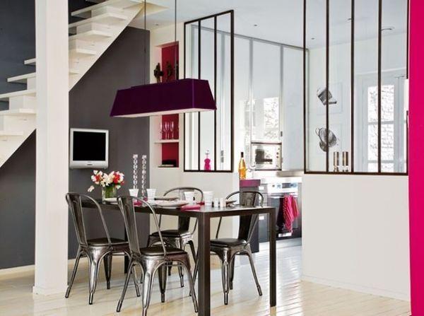 Verrière ouverte sur salon-cuisine Jolie verrière Pinterest - cuisine ouverte sur salon m