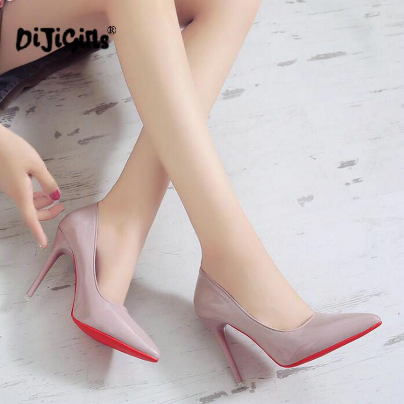 Pumps 10cm High Toe Heeled Black Pointed Women Nude Sexy Shoes nwk0OP