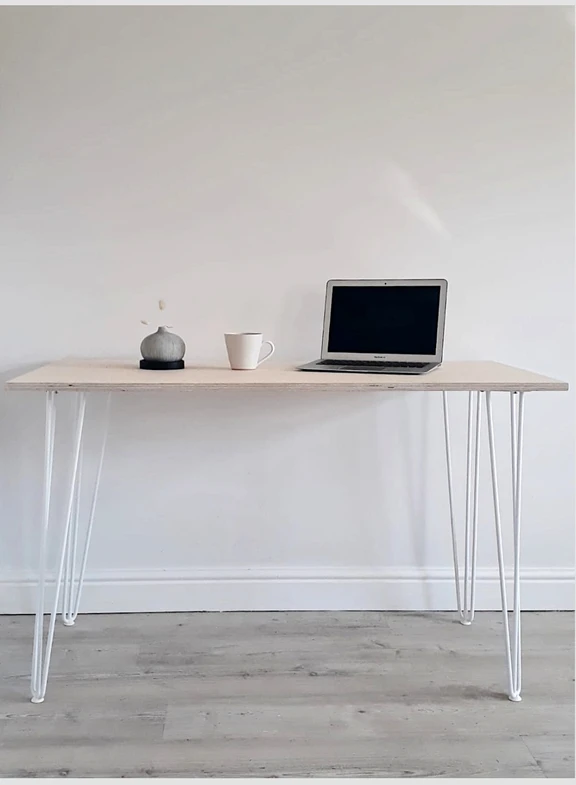 Scandi Home Office Desk With White Hairpin Legs In 2020 Home Office Desks Scandi Home Office Desk