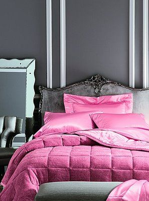 love the head board and color combo pink bedding pink bedrooms home decor on grey and light pink bedroom decorating ideas id=73200