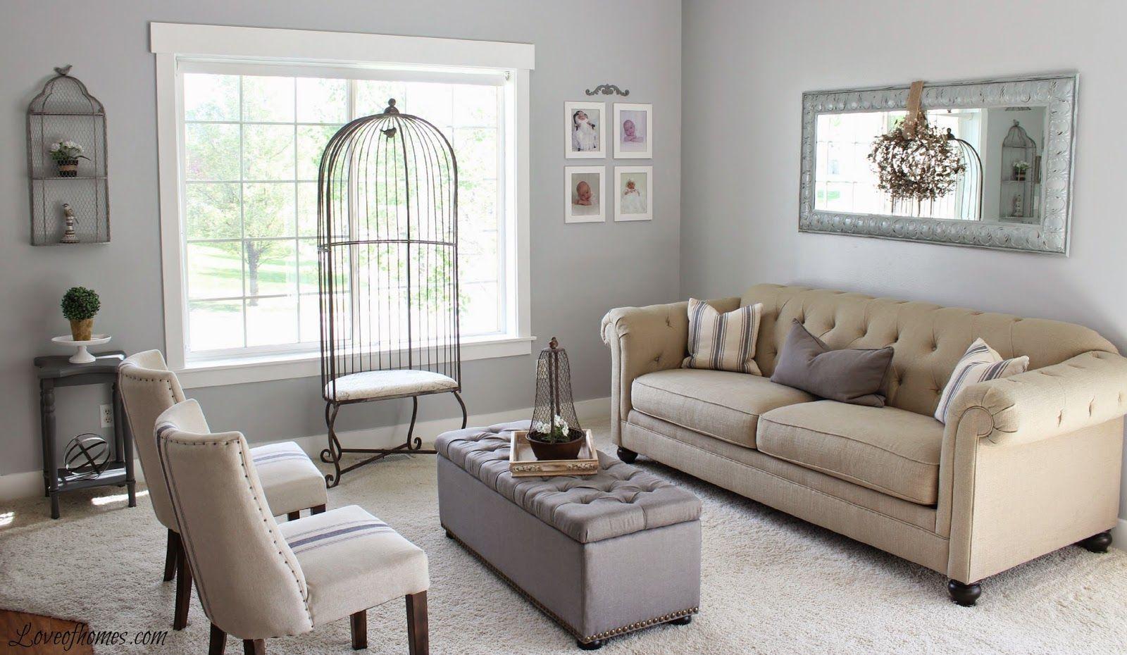 Best Love Of Homes Living Room Reveal Benjamin Moore Wall 400 x 300