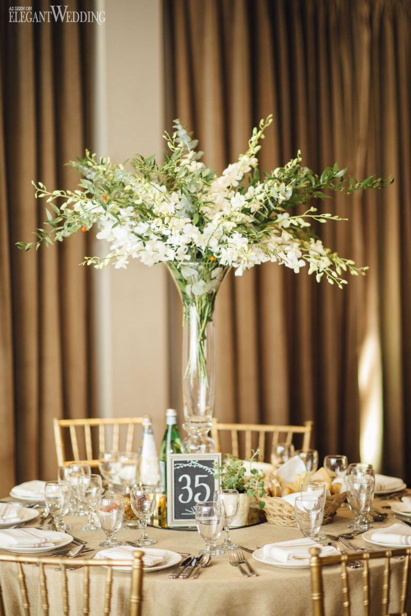 Rustic Italian Wedding Theme With Greenery Wedding Centerpieces