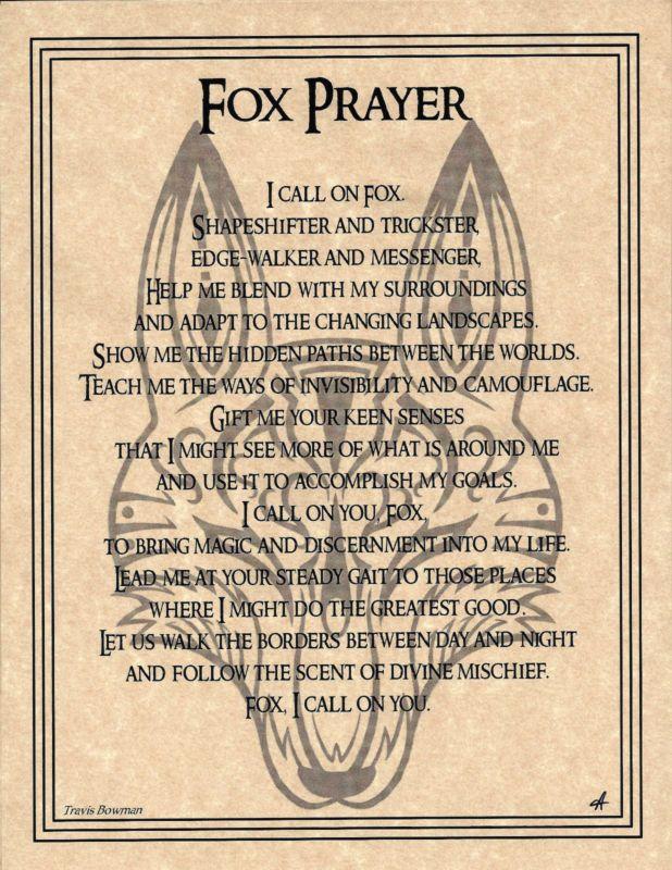Wolf Prayer Poster 8 1//2 x 11