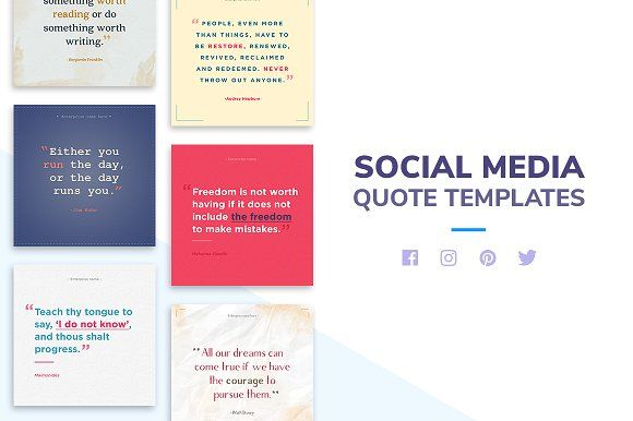 Social Media Quote Package by Disuto on @creativemarket Social - how to create a quotation template