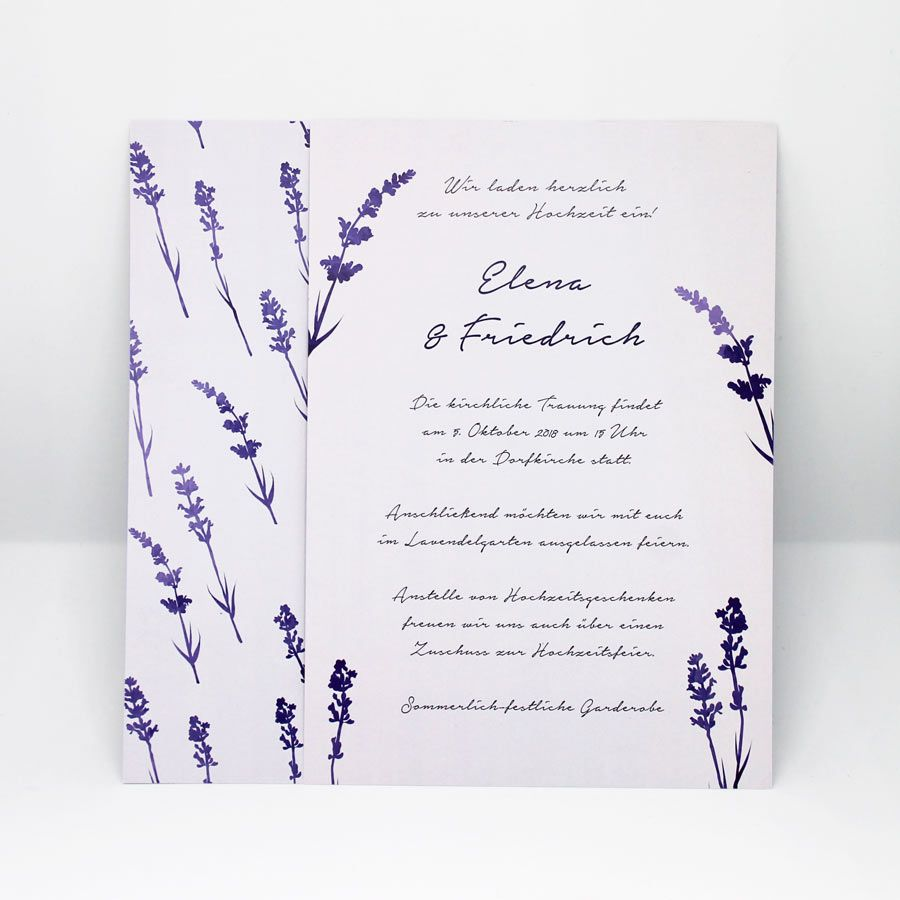Hochzeitseinladung Lavendel Hochzeitspapeterie Und Hochzeitsdeko In 2021 Hochzeitseinladung Lavendel Hochzeit Einladungskarte Hochzeit Vintage