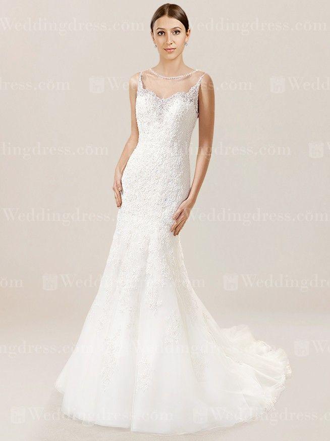 Fit-n-Flare Einzigartiges Brautkleid DE619 | Hochzeitskleider ...