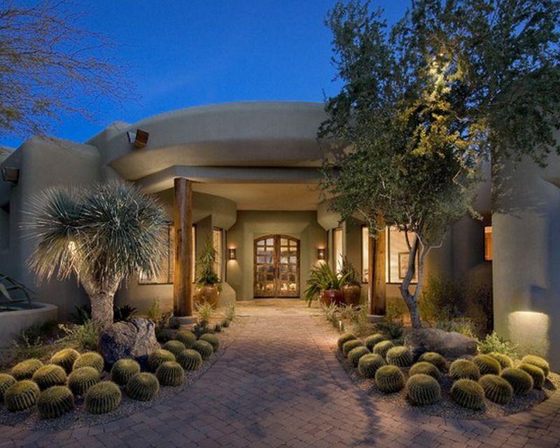 Contemporary Southwestern Garden Patio Exterior Design   Best .