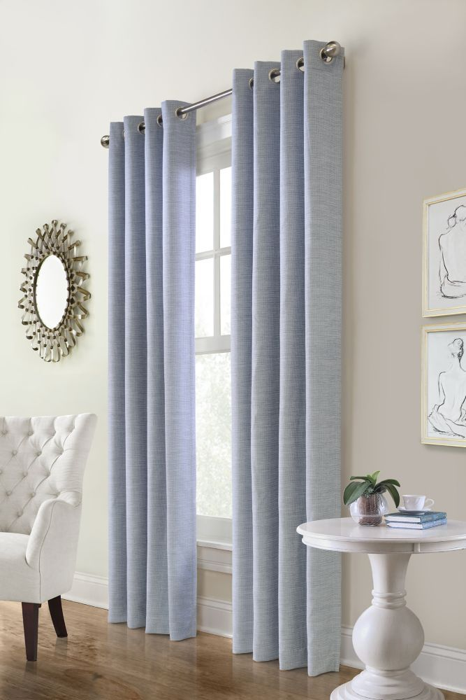 Carnavon Room Darkening Grommet Curtain 52 Inches Width X 95 Inches Length Blue In 2020 Cool Curtains Tribal Room Kids Curtains