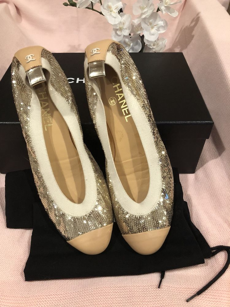 923ee9ff93be 100% Authentic gucci womens Cc Beige Sequence Flats shoes size 9  fashion   clothing  shoes  accessories  womensshoes  heels (ebay link)