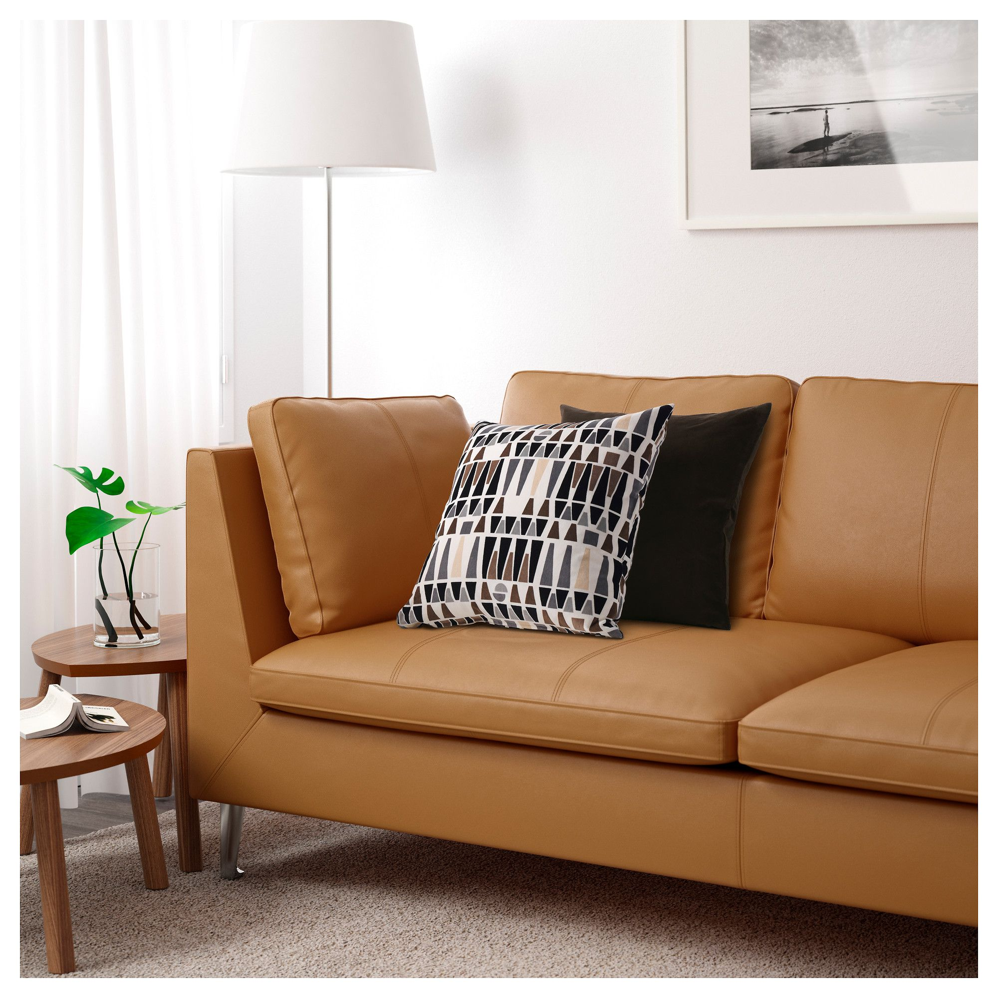 IKEA   STOCKHOLM, Sofa, Seglora Natural, , Highly Durable Full Grain  Leather Which Is Soft And Has A Natural Look And Feel.Full Grain Leather  Breathes Well ...