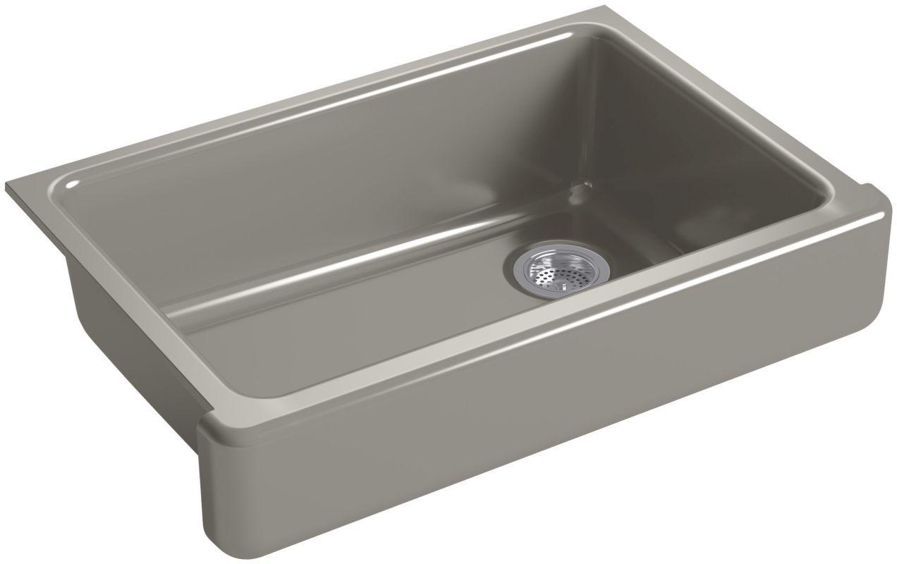 Kohler K 5826 Cast Iron Farmhouse Sink Cast Iron Kitchen Sinks Single Bowl Kitchen Sink