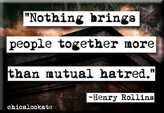 Henry Rollins Mutual Hatred Quote Refrigerator by chicalookate, $4.00