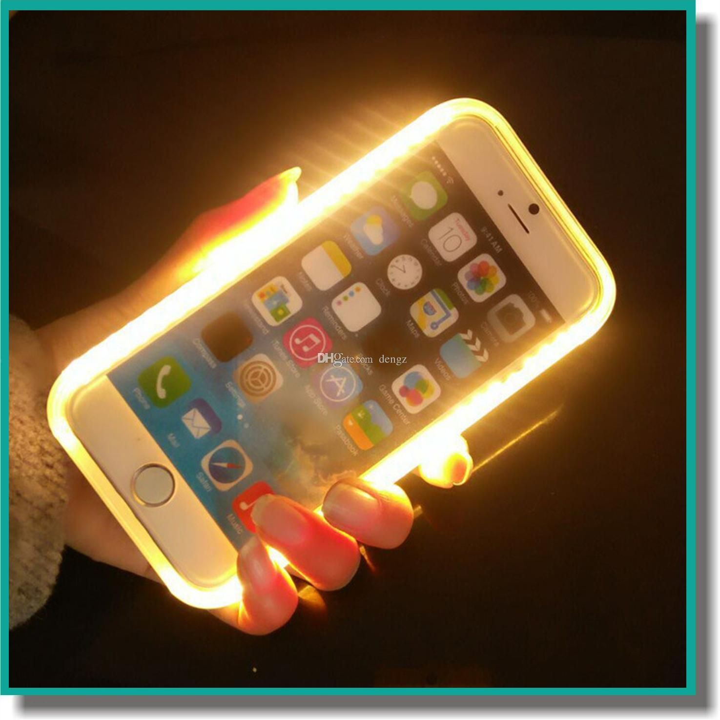 Luxury Illuminated Phone Case Selfie Hard Cover Case With Led Light For Iphone 6/6s/6 Plus S6 S7 With Retail Package Cute Phone Cases Cheap Phone Cases From Dengz, $8.94| Dhgate.Com