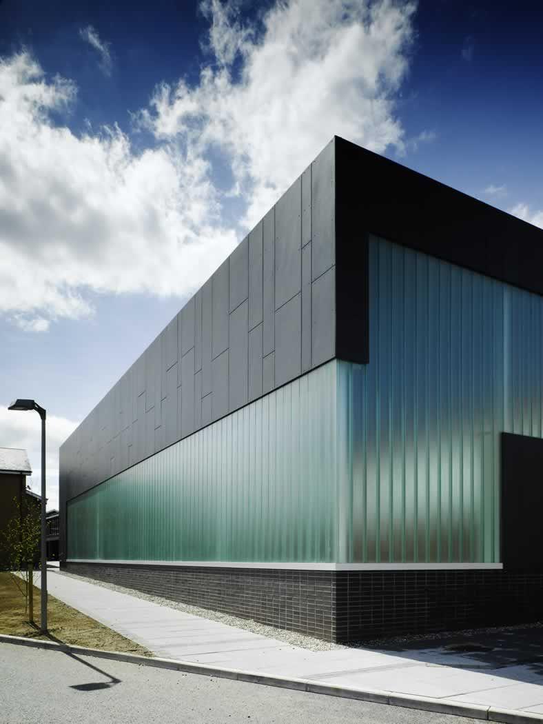 Modern Architecture Dublin sandford park school, dublin. dta architects. equitone facade