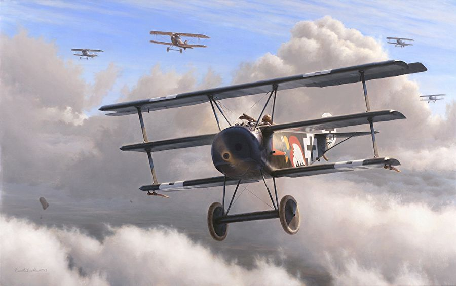 Fokker Triplane 450 17 One Of Several Flown By Ltn Josef Jacobs Staffelfuhrer Of Jasta 7 Jacobs Was Perhaps The Big Aircraft Painting Aviation Aircraft Art