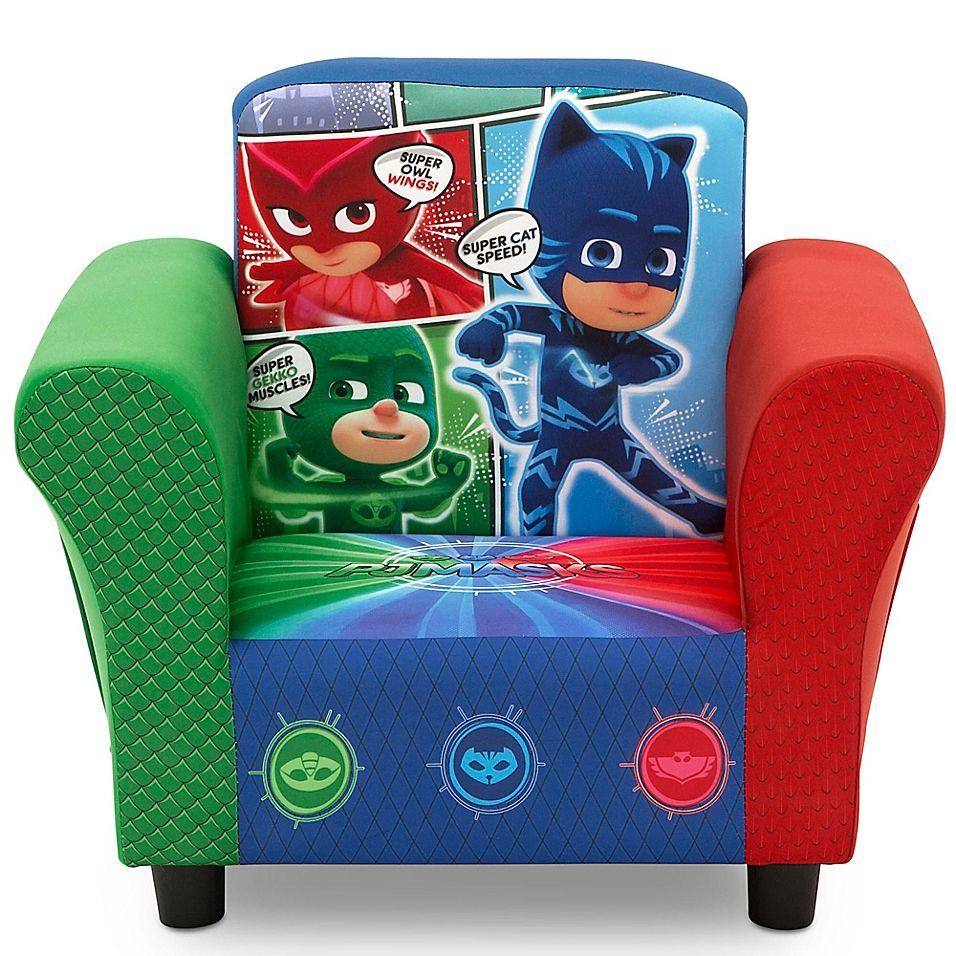 Delta Children Disney Pj Masks Upholstered Chair In Blue