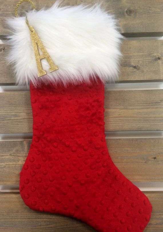 Red Christmas Stocking, Personalized Christmas Stocking