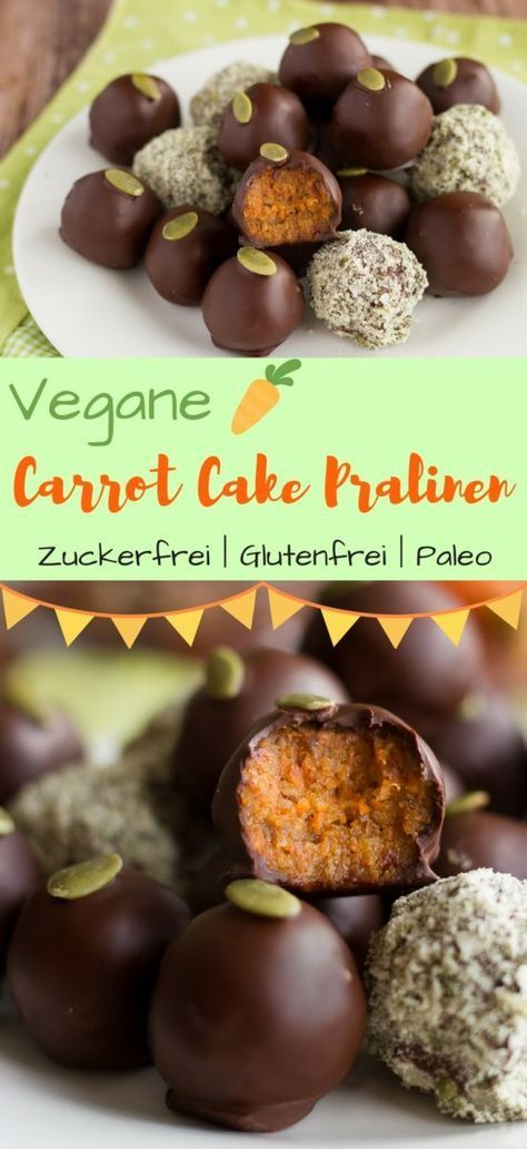 Carrot Cake Pralinen | Zuckerfrei, Vegan, Paleo #sugarfreerecipes