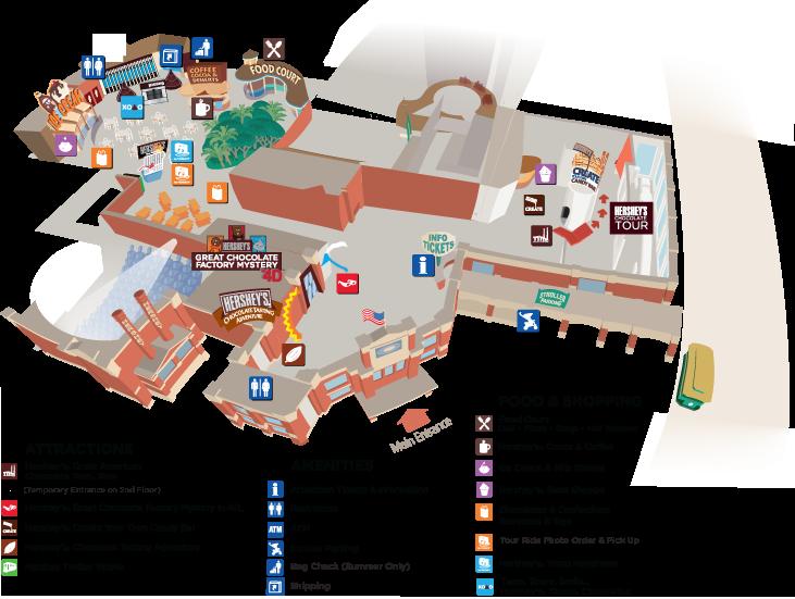 Hershey Chocolate World Overview Map   MMM Foodies Food ...