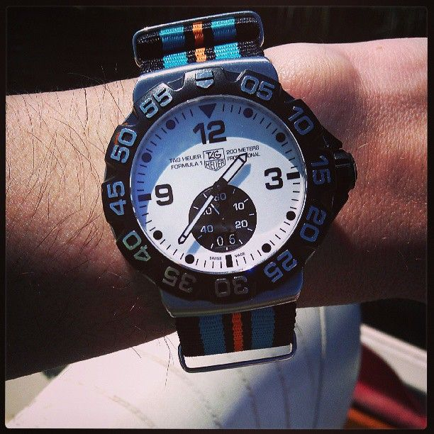 TAG Heuer Formula One Grand Date White dial on a Nato band ...