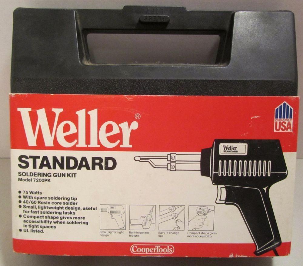 Cooper Tools Weller 7200PK Standard Multi-Purpose Soldering Gun Kit 75 Watt