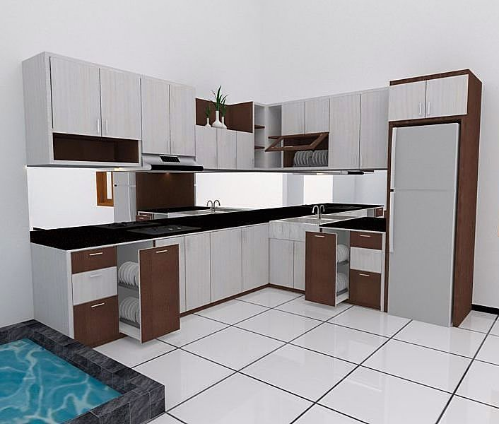 Model Kitchen Set Modern Elegan Dapur Minimalis Idaman Pinterest